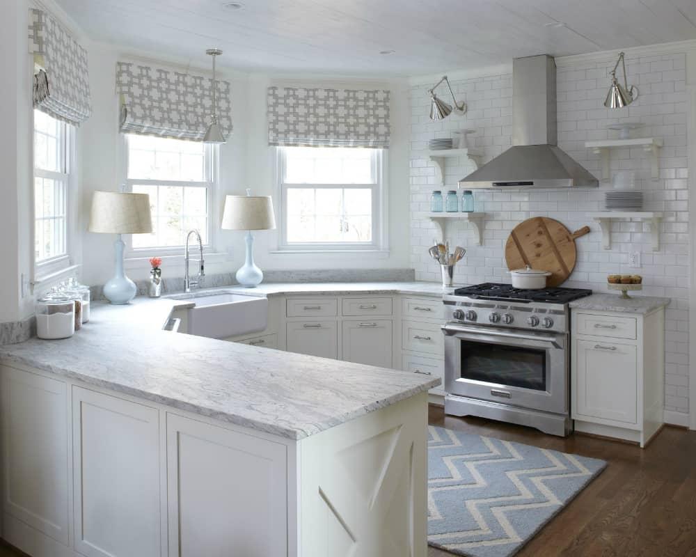 Polygonal kitchen counter