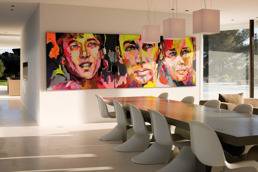 Pop art in a dining room