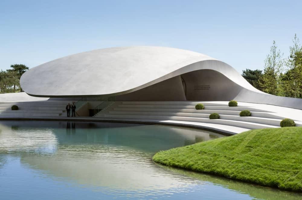 Porsche Pavilion at the Autostadt in Wolfsburgby Henn Architekten