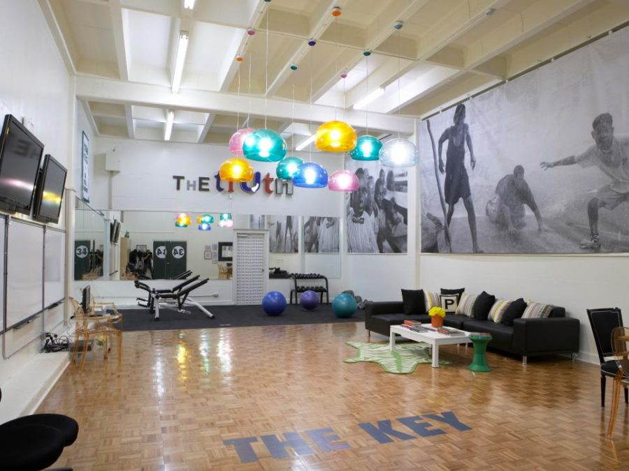 Recreational spacious gym