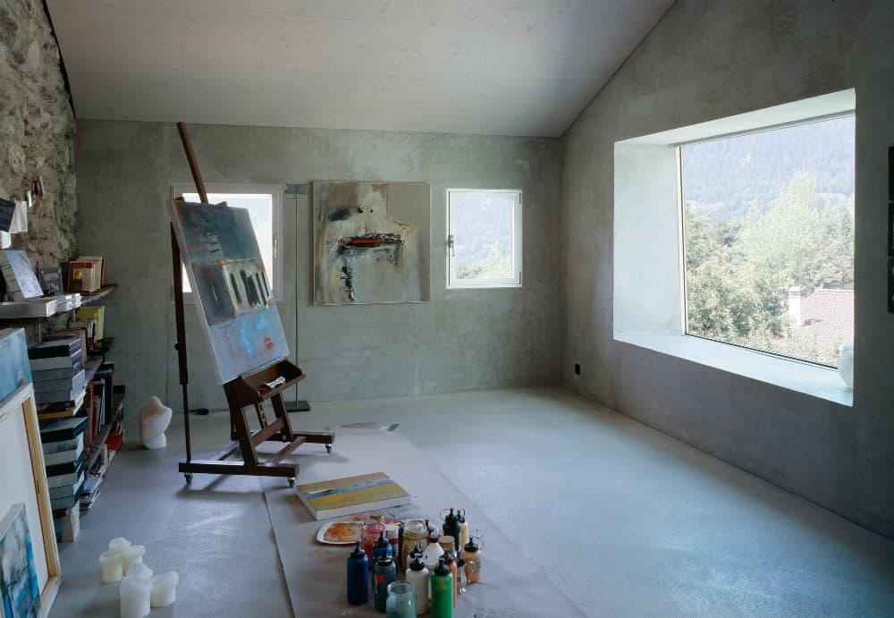 Roduit House artist's room