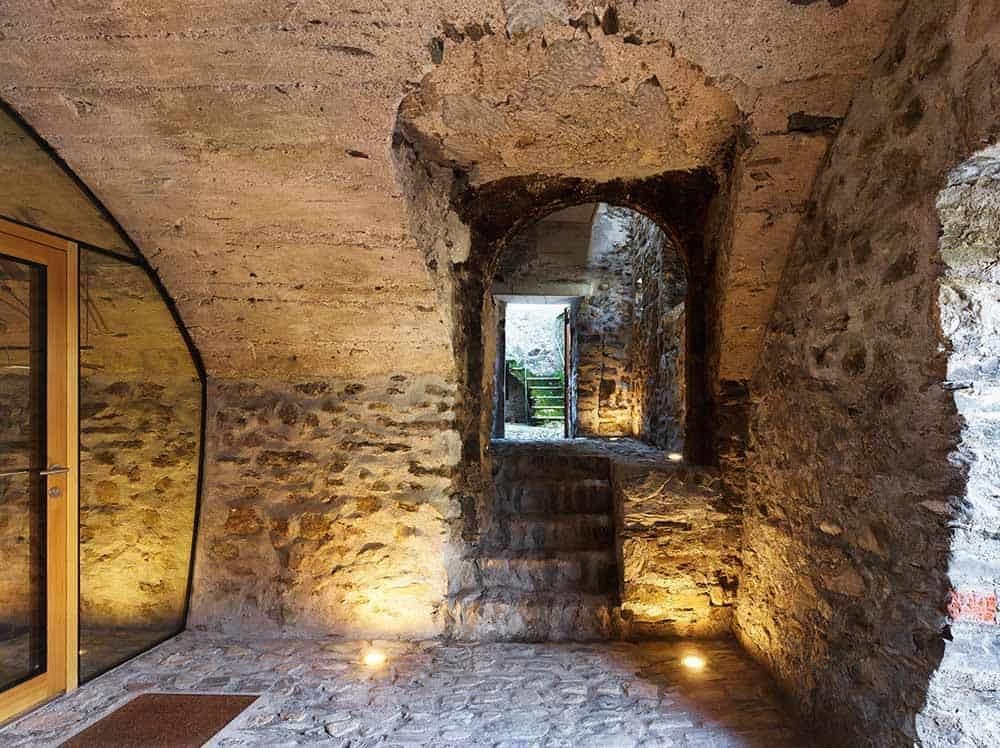 Scaiano Stone House hallway