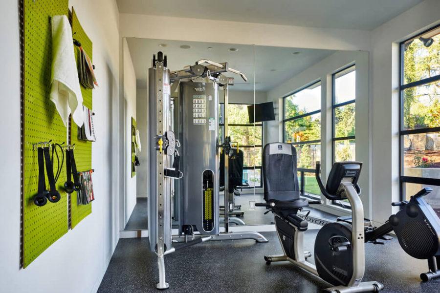 Sleek contemporart exercise room