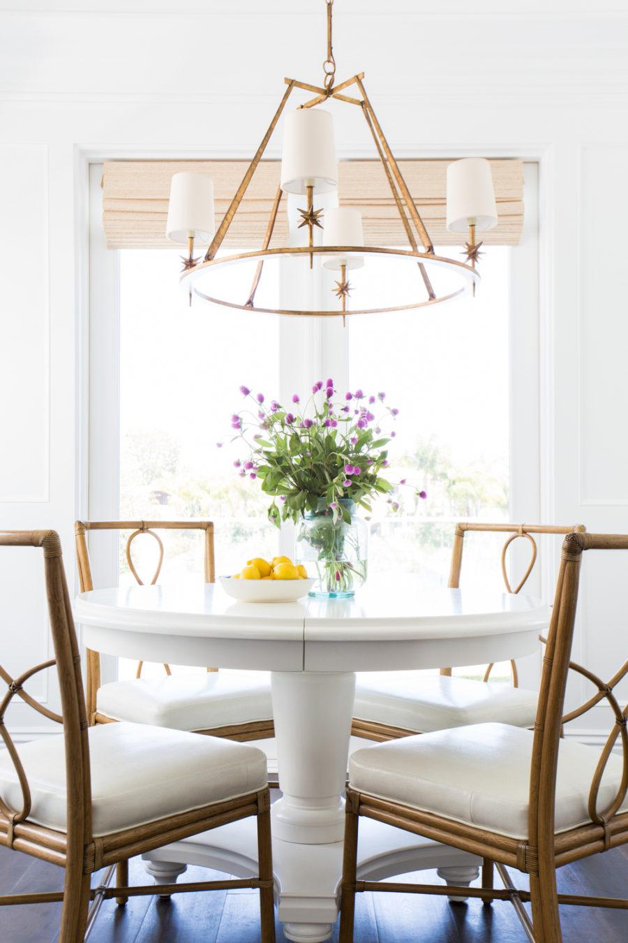 Small breakfast table area