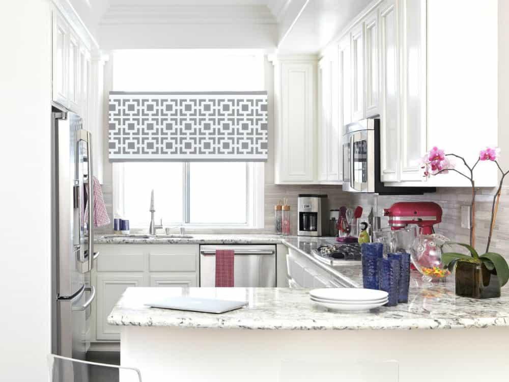 Small kitchen with a peninsula