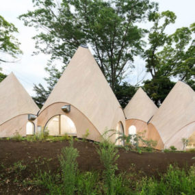 Teepee-Shaped Home Complex in the Mountains of Japan