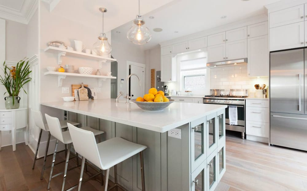 Storage-friendly kitchen peninsula design