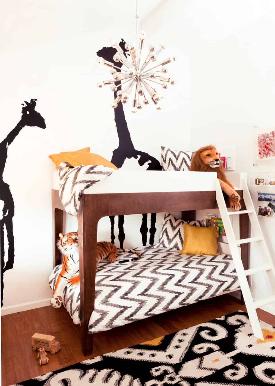Super stylish shared kids room by Little Crown Interiors