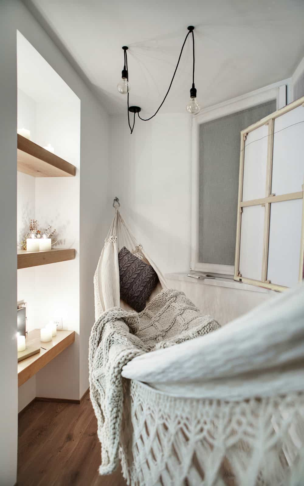 Tiny room with a hammock