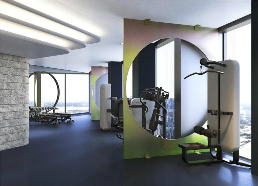 Tom Dixon-designed gym