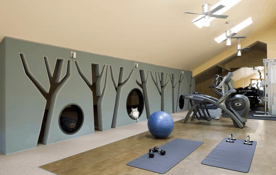 Unique gym design
