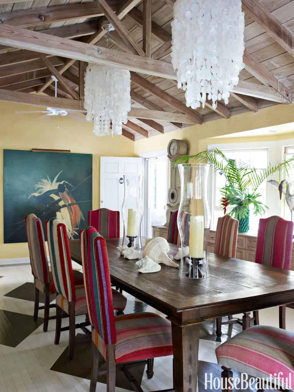 Windchime shell chandeliers