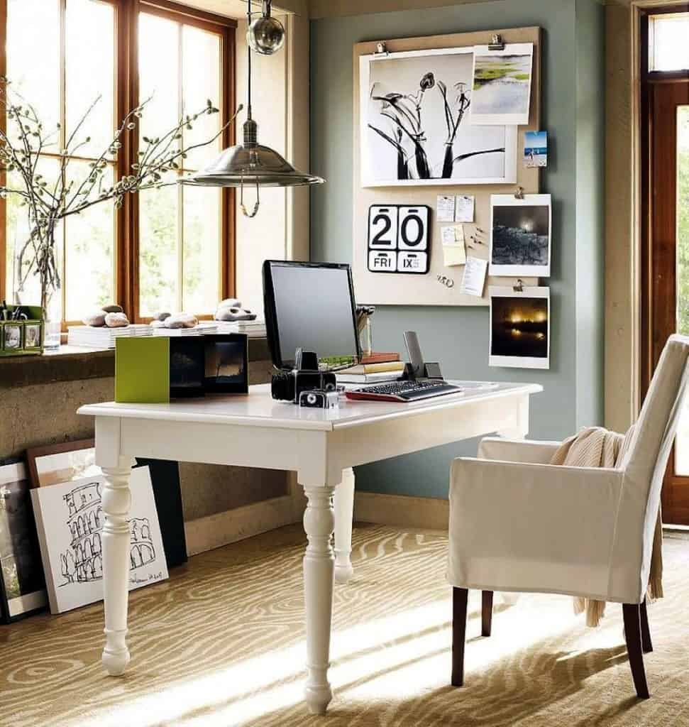 artistic home office art pieces neutral