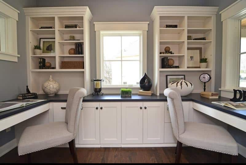 Merveilleux ... Functional Neutral Home Office Designs 21 Ideas For Creating The  Ultimate Home Office