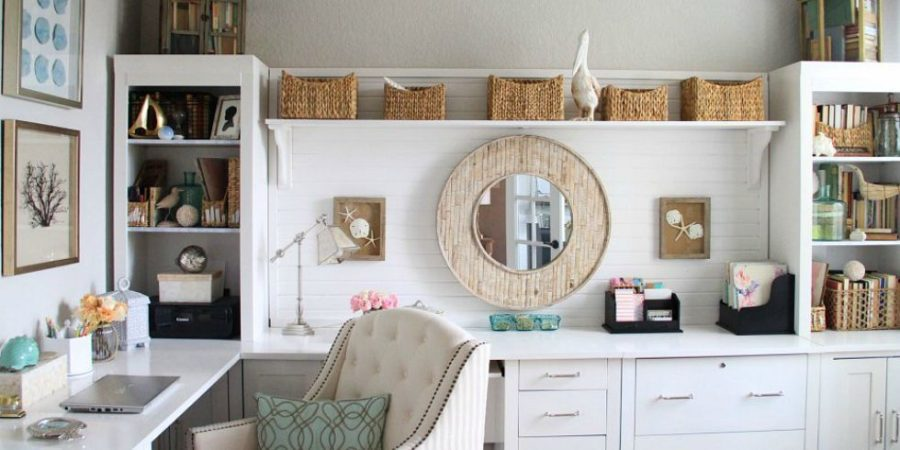 View In Gallery Light Blue Coastal Home Office