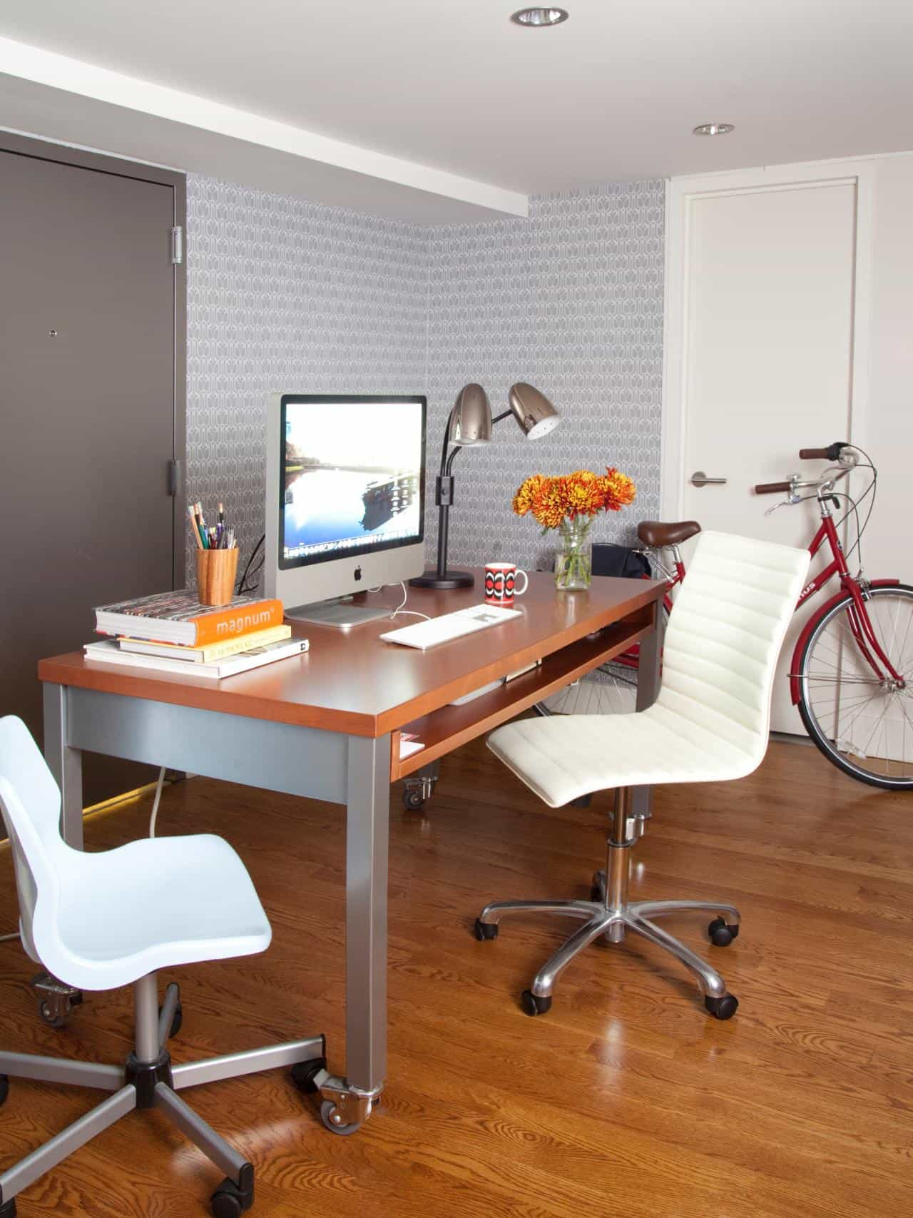 moveable workspace minimalist home office