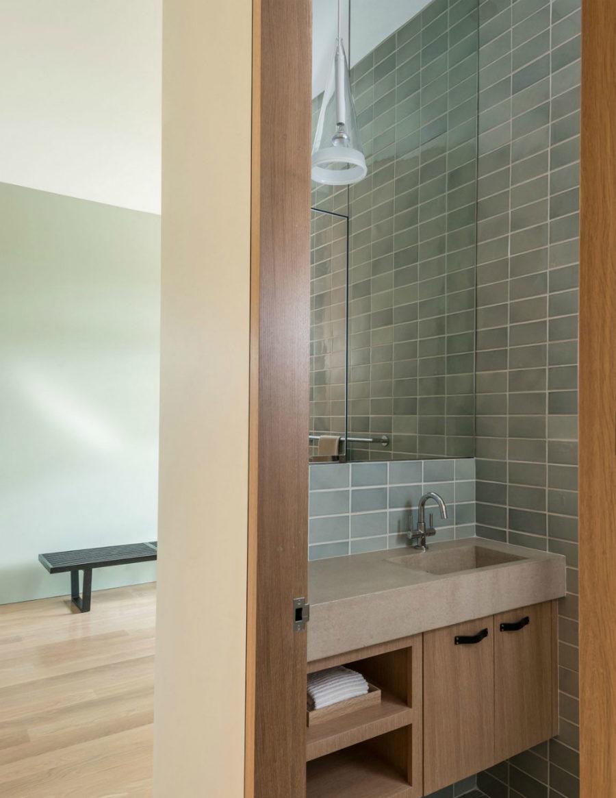 Bathroom is elegantly simple