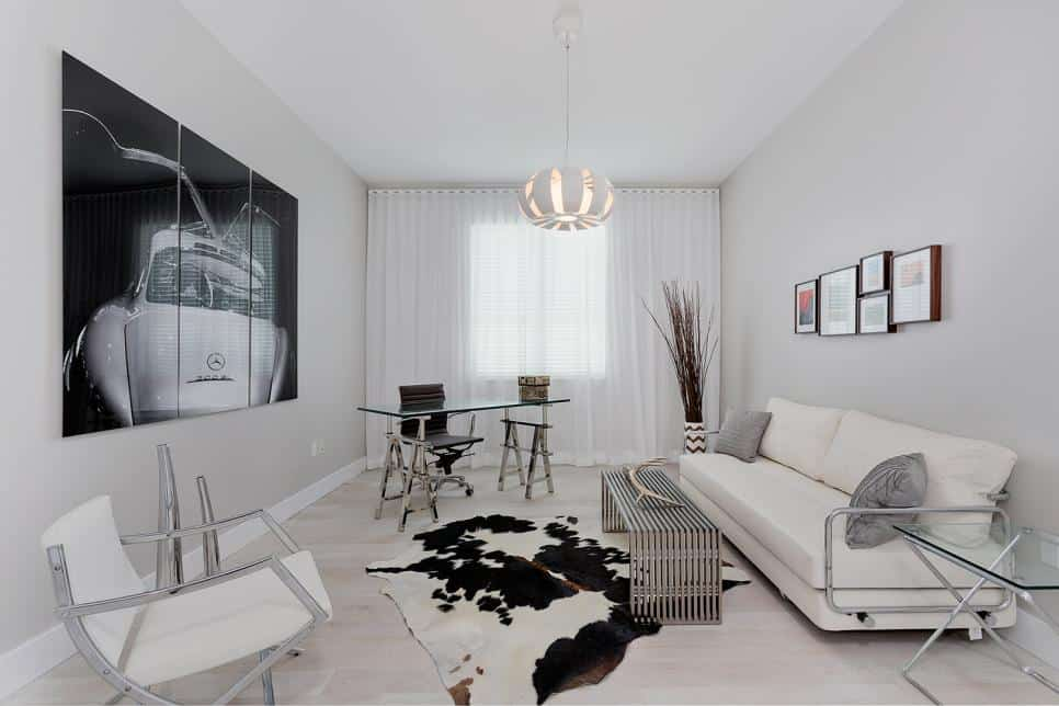 Beatriz Pascuali living room and home office