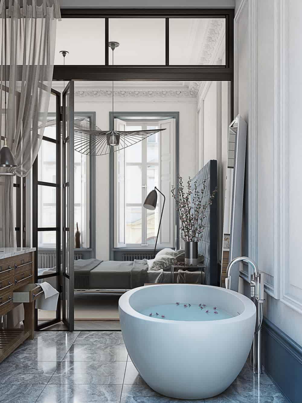 Beautiful bedroom bath