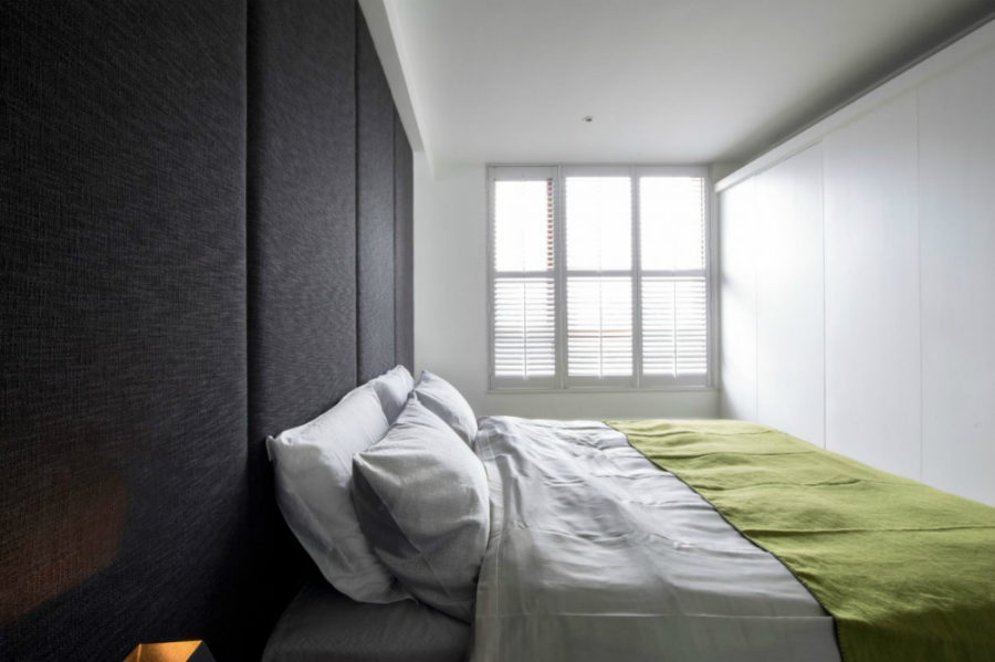 Bedroom is typically minimal but storage-friendly