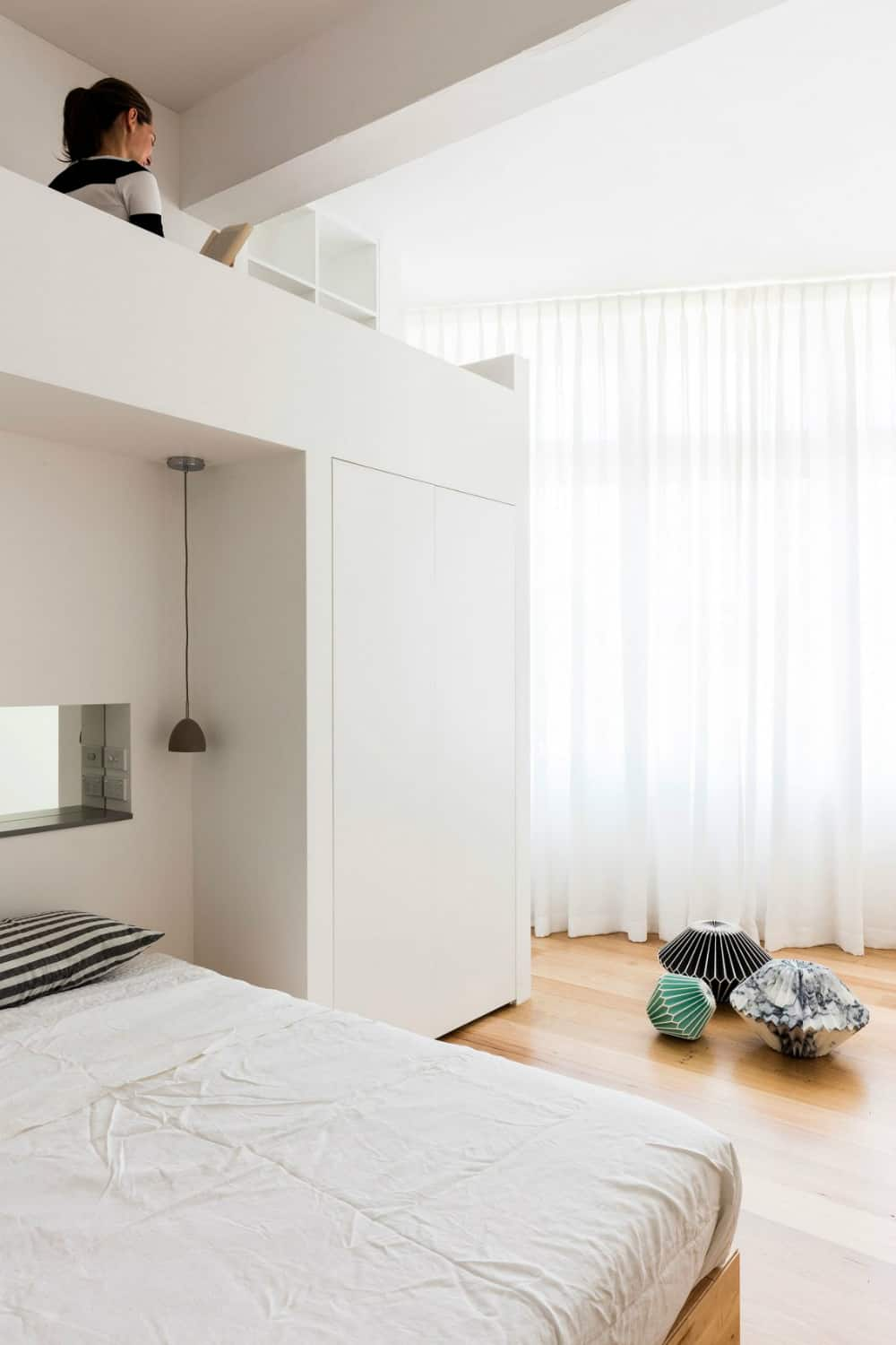 Bedroom with a loft reading nook
