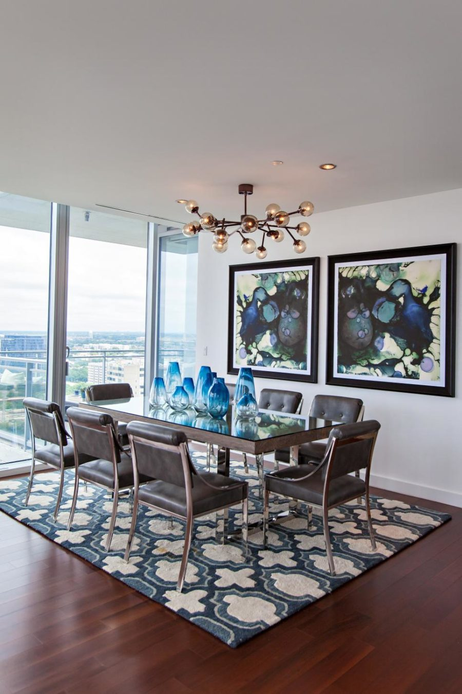 Blue Contemporary Dining Room By Abbe Fenimore