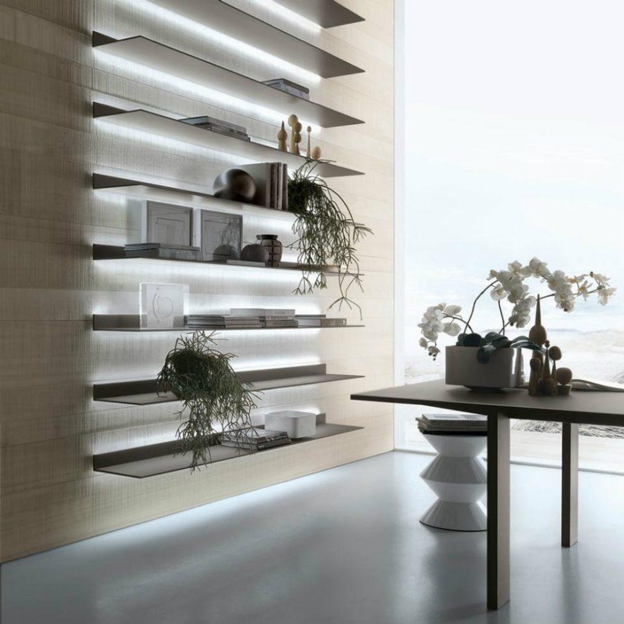 Bookcase Eos by Giuseppe Bavuso for Rimadesio