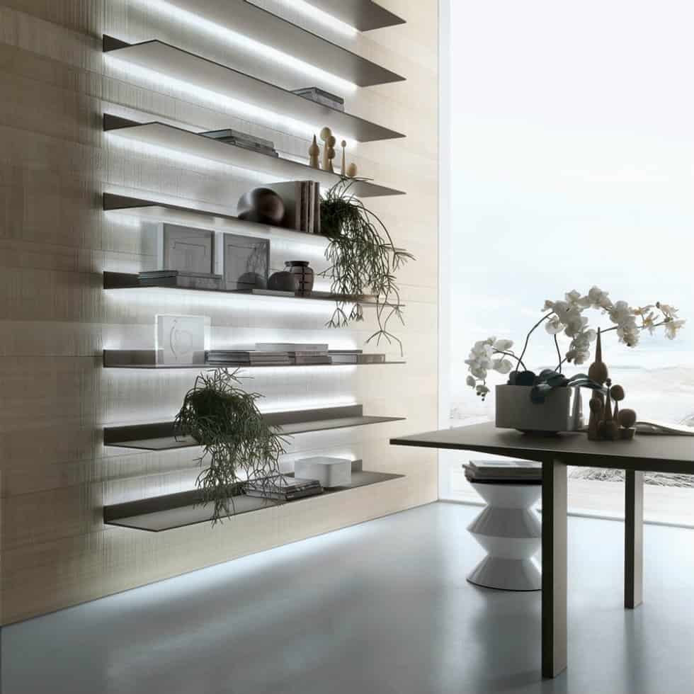 Bookcase Eos by Giuseppe Bavuso for Rimadesio