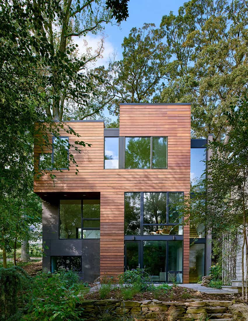 Boxy structure is positively modernist
