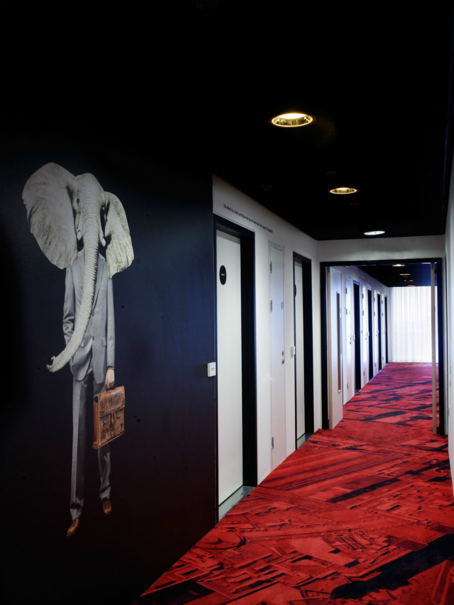 CitizenM Hotel Glasgow Glasgow 900x1200 These Dramatic Hallways Will Make a Lasting Impression on Your Guests
