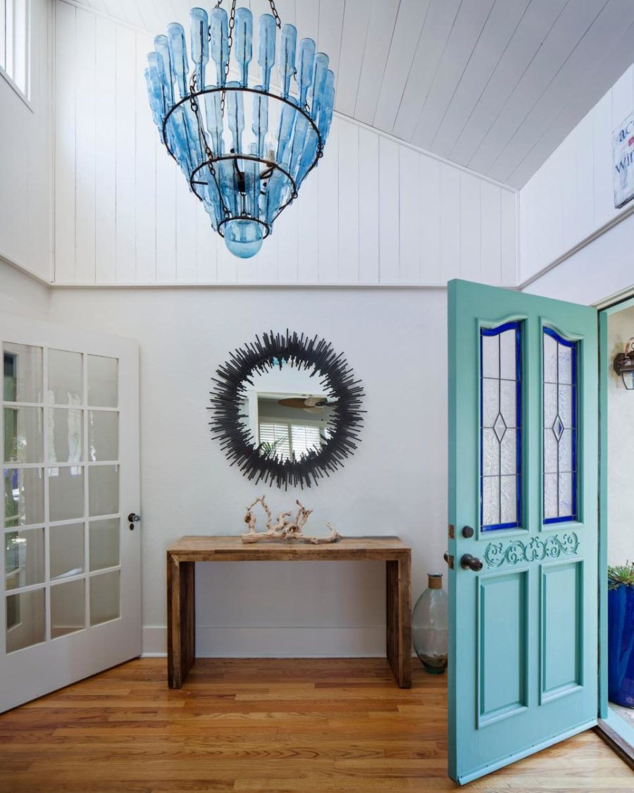 Colorful hallway with dramatic accents by Kristianne Watts