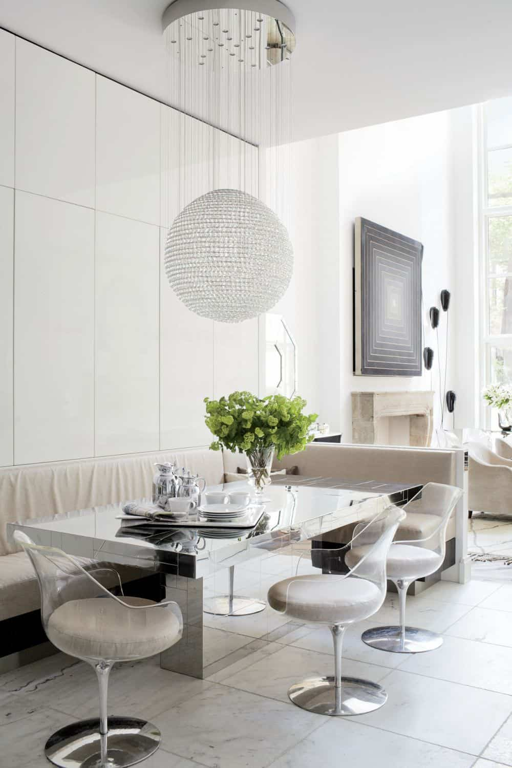 Contemporary Dining Room by Pamplemousse Design