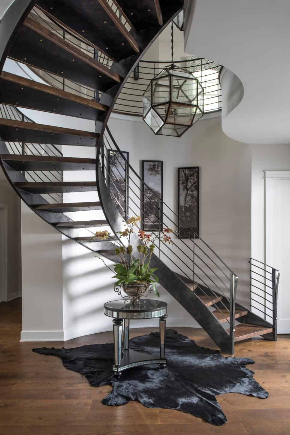 Contemporary foyer by John McClain Design