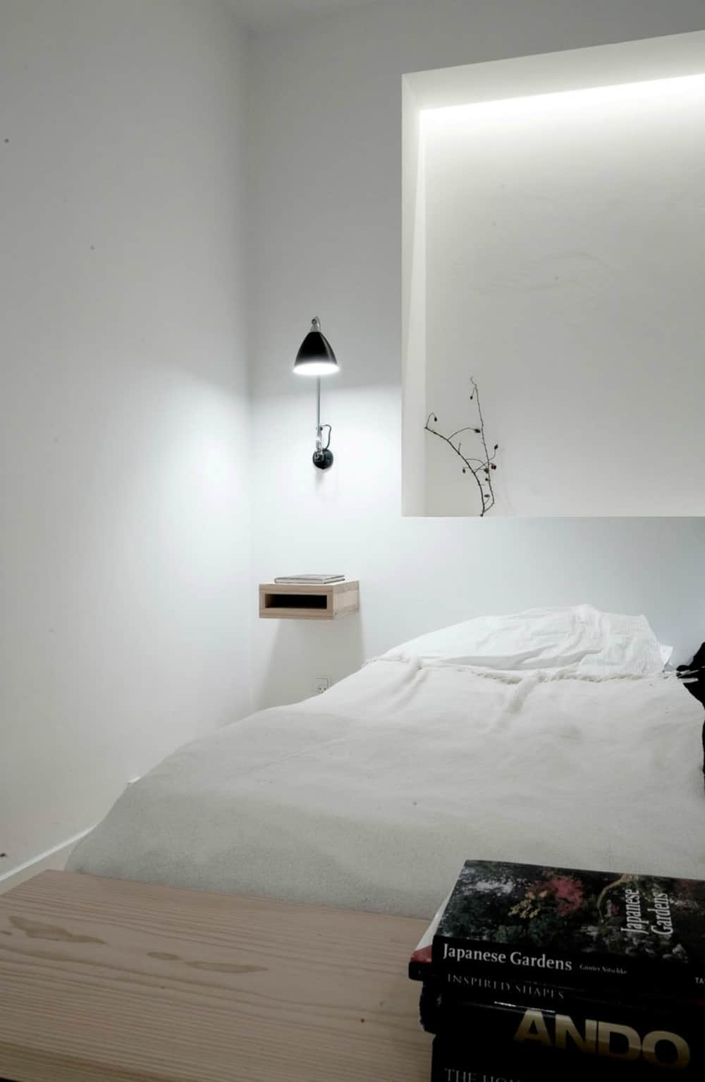 Copenhagen Penthouse bedroom lighting by Norm Architects