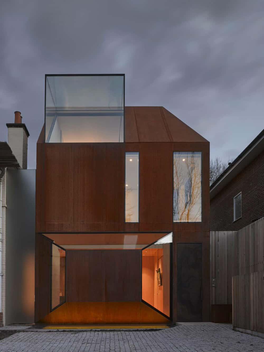 Cor-Ten House in Putney by Eldridge London