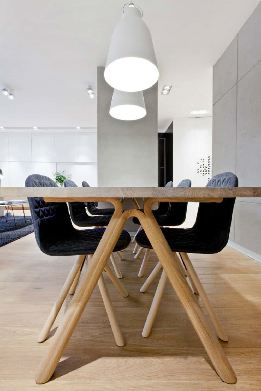 Dining area lights make a statement with their size