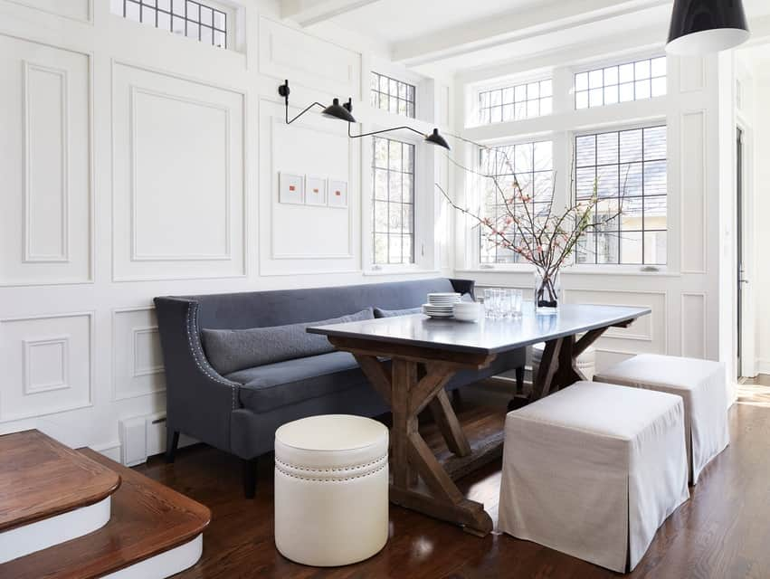 Dining room poufs