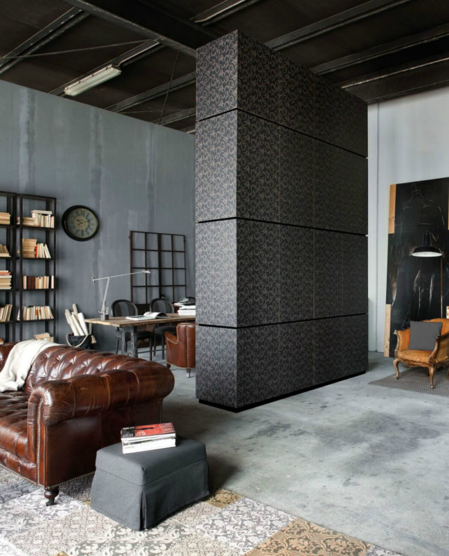 Each area has its own characteristic element 900x1113 Metropolitan Loft in Milan Looks Beyond Unique