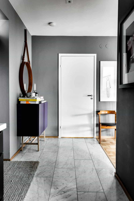Hallway is simple but elegant