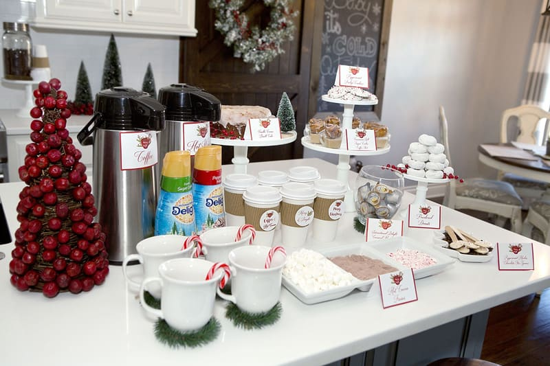 Simple Coffee Bar Additions To Kitchen For The Holidays
