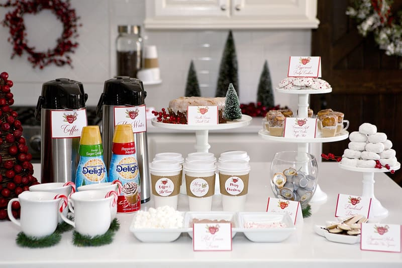 Holiday Simple Kitchen Decorations Hot Coffee Bar