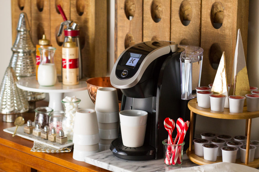 Keurig Corner Gourmet Coffee Bar For Christmas