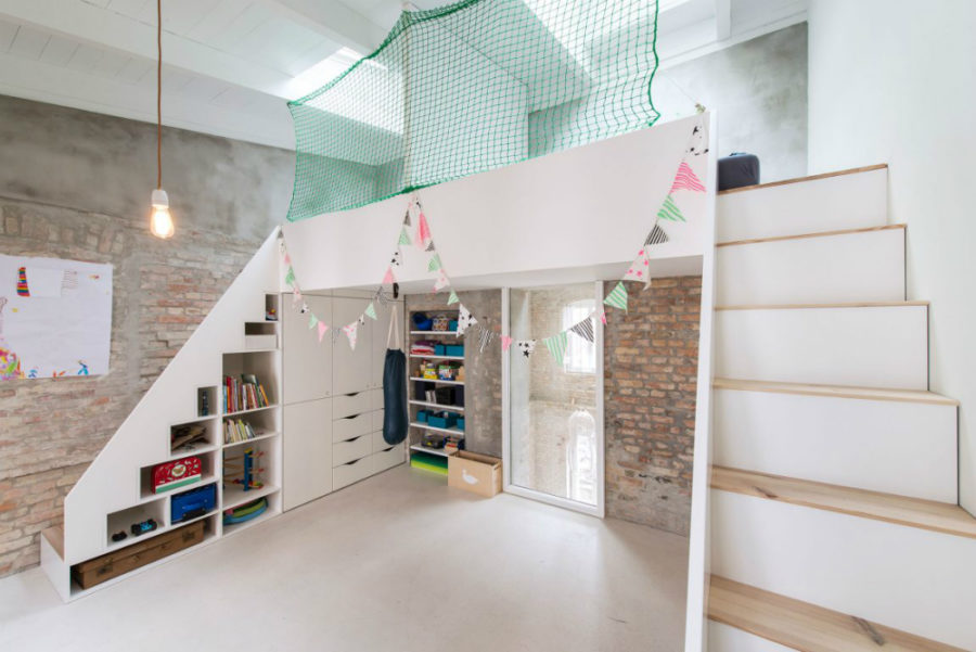 Kids room has okenty of clever storage built into it