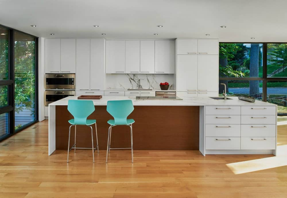 Kitchen with a huge island