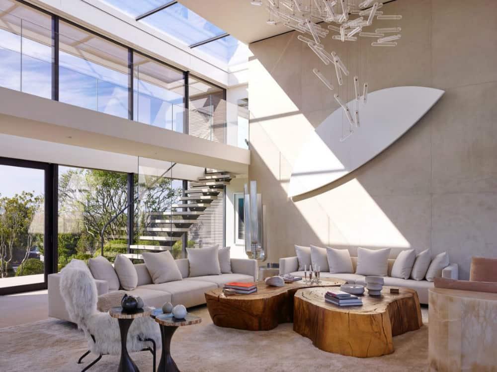 Living room is full of unique decor elements