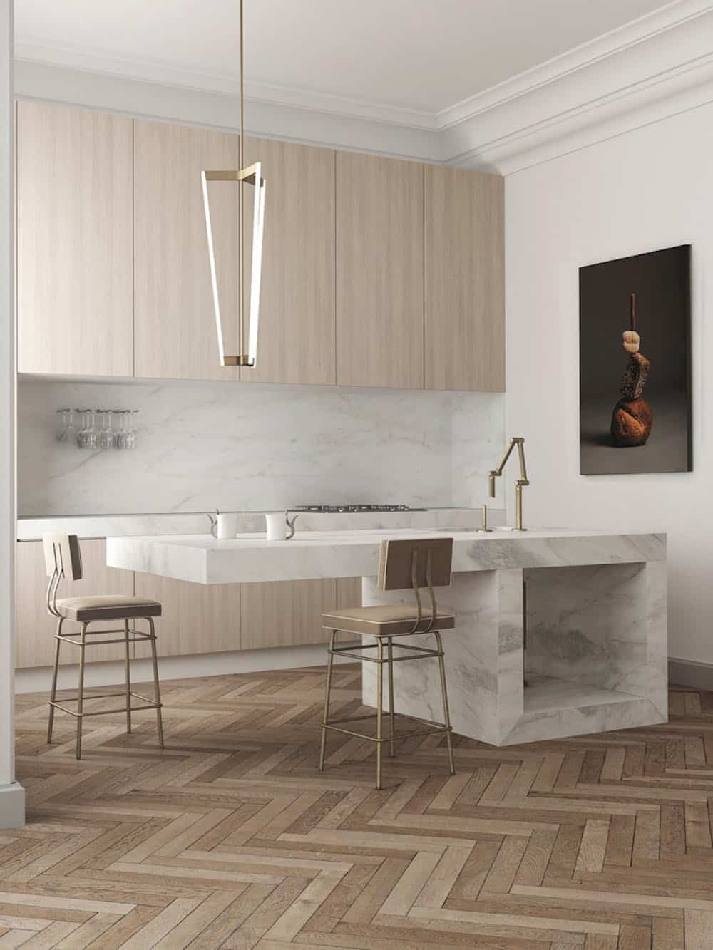 Luxurious kitchen design by Katty Shiebeck