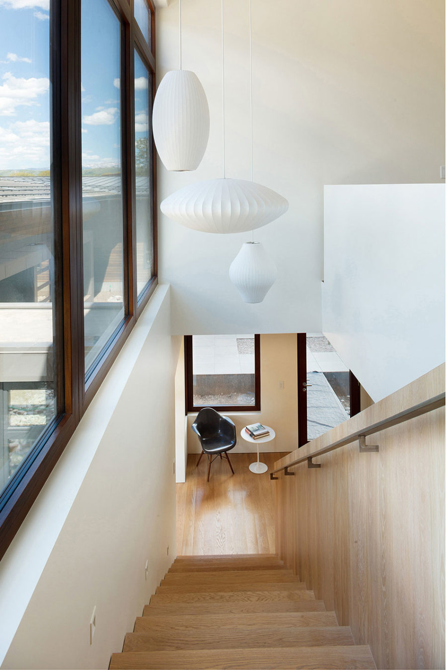 modern house lights. View in gallery Mid century modern lights decorate a staircase Modern House Near Wyoming Mountains Takes Advantage of its Location