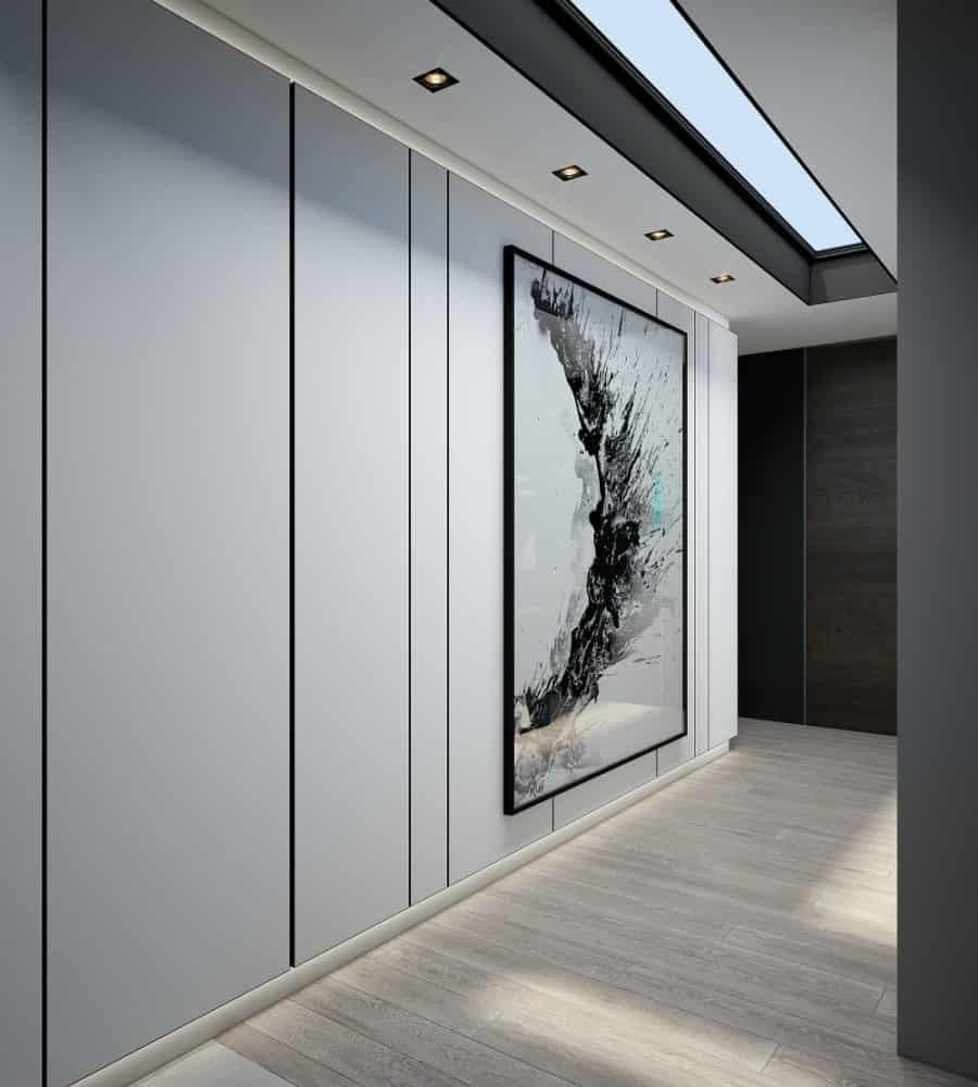 Minimalistically dramatic hallway