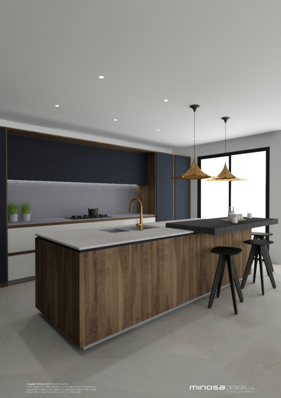 Minosa Design sleek contemporary kitchen
