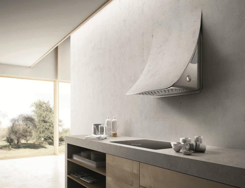 NUAGE wall-mounted steel cooker hood by Elica